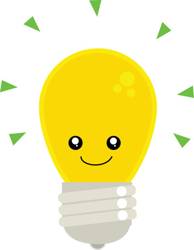 400x515 Light Bulb Clipart Cute