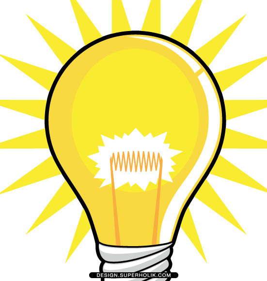 551x580 Light Bulb clipart graphic