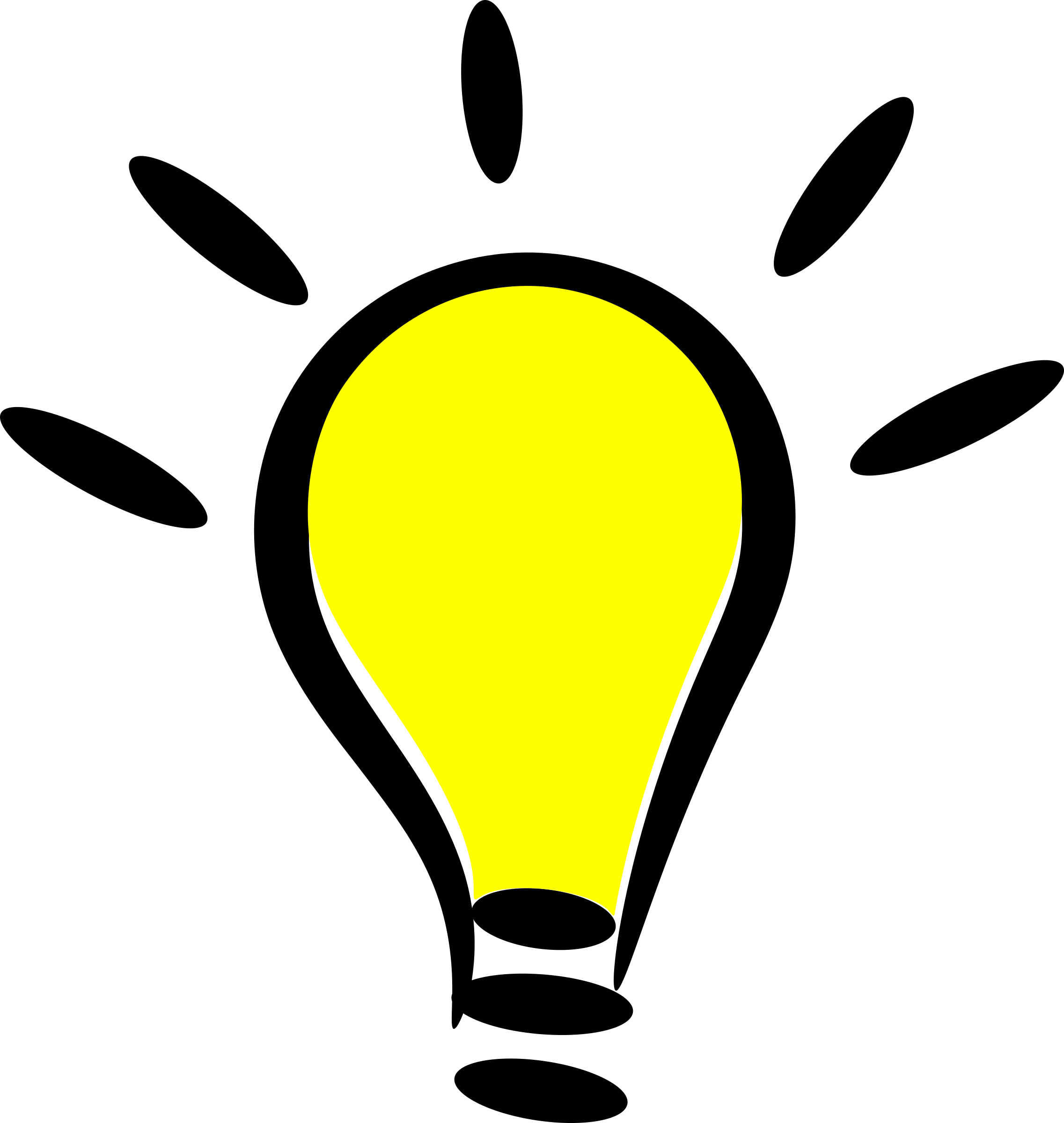 2273x2400 Light Bulbs Clipart