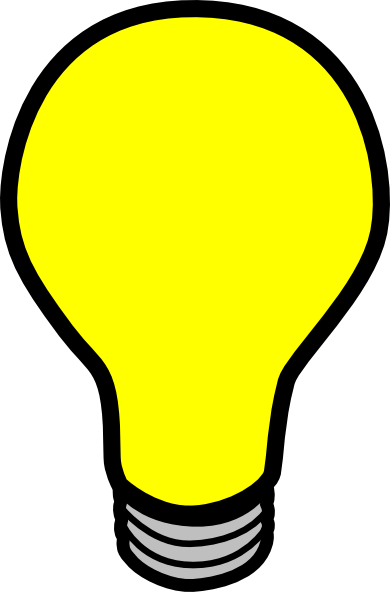 390x592 Lightbulb Animated Light Bulb Clipart Kid