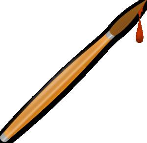 300x293 Paint Brush Drops Clip Art