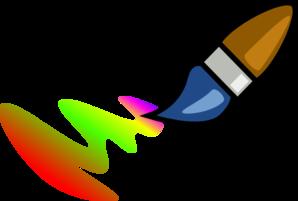 298x201 Rainbow Paintbrush Clip Art