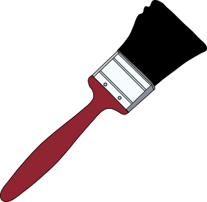 300x293 Tom Red Paintbrush Clip Art