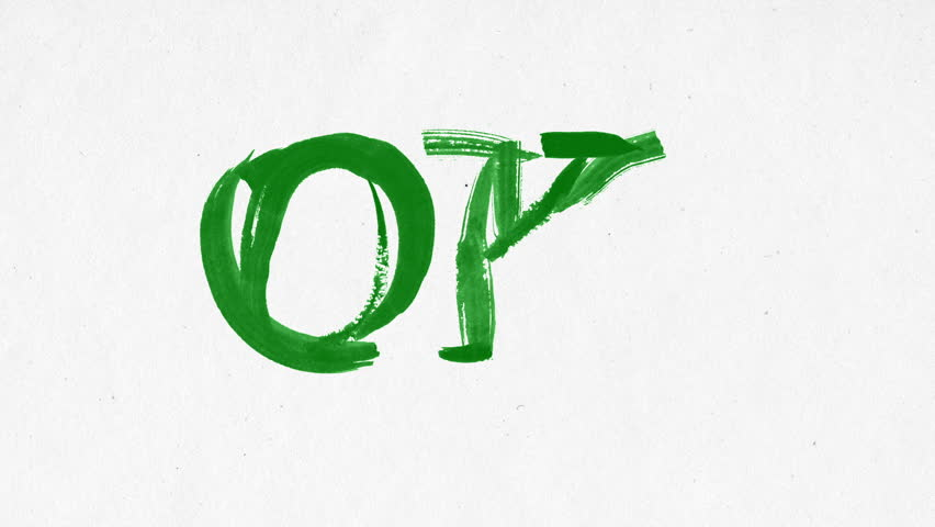 852x480 Animated Paint Brush Calligraphy Stock Footage Video 10779965