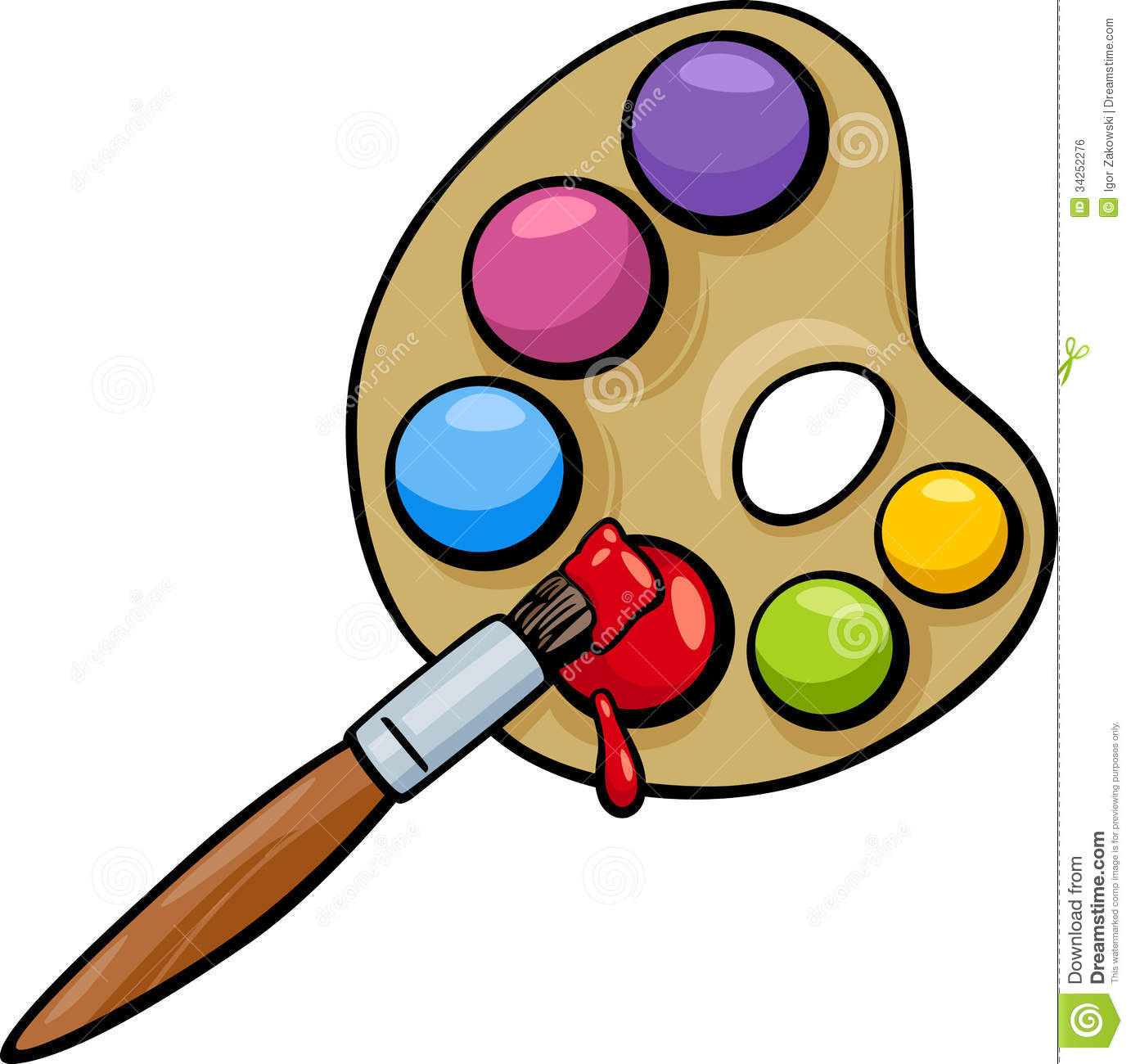 1382x1300 Art Palette Clipart Without Brush Collection