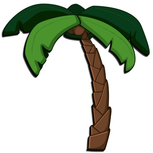 500x500 Animated Palm Tree Clipart