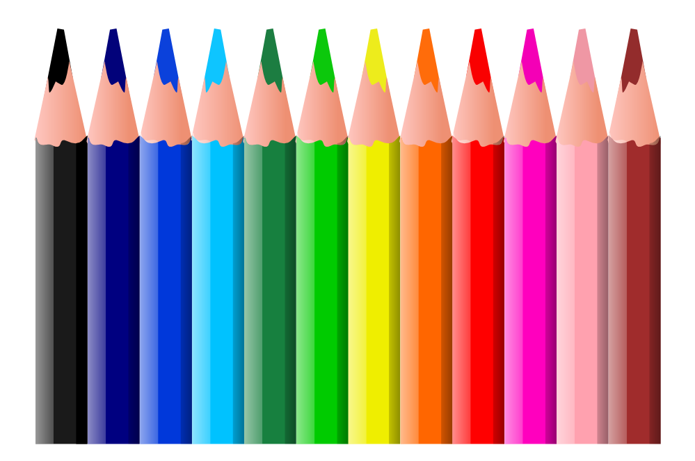 999x663 Pencils Clipart