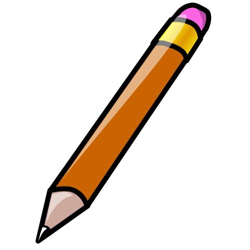 500x500 Animated Pencil Clipart