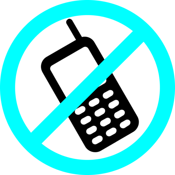 600x600 No cell phones clipart