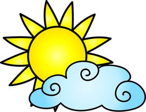 300x230 Cartoon Sun And Cloud Clipart Panda