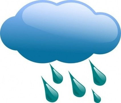 425x361 Clipart Rain Clouds