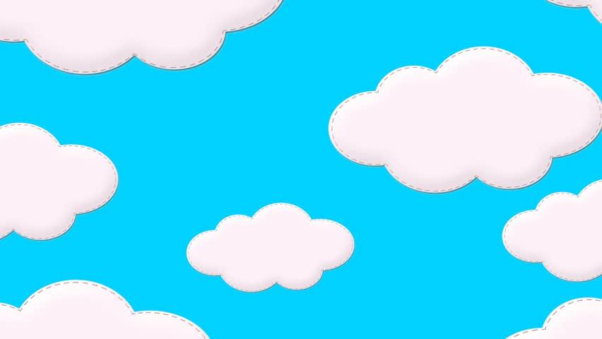 852x480 Drawn Cloud Animated