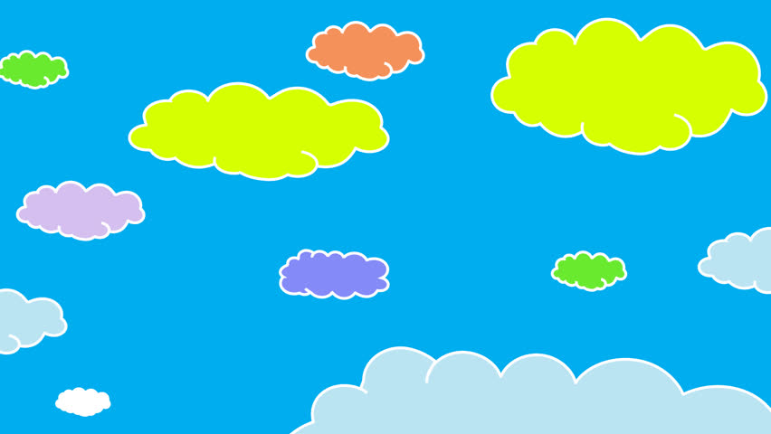 852x480 Pink Animated Vector Clouds, Expanding And Contracting, Moving