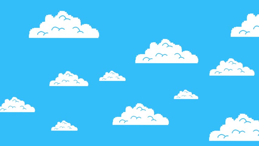 852x480 Stylized Animation Of Sky With Rotating Sun And Moving Clouds
