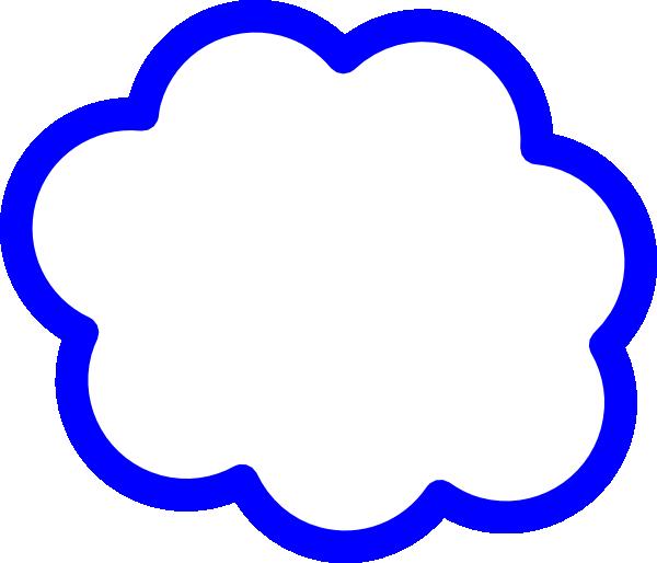 600x514 Blue Cloud Clip Art