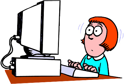 419x285 Frustrated Person On Computer Animated Clipart
