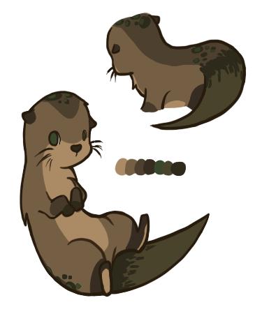 375x450 Drawn Otter Chibi