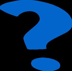 299x294 Blue Question Mark Clip Art