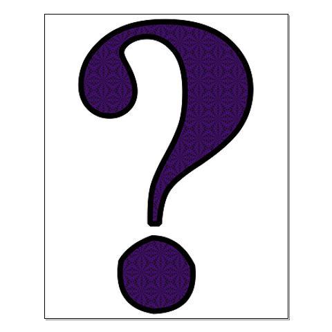 480x480 Purple Question Mark Clipart