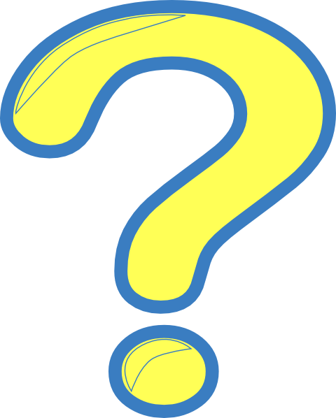 480x598 Yellow Question Mark Clipart