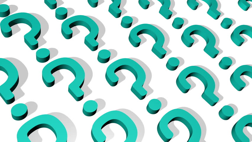 852x480 Question Mark Looping Animated Background Stock Footage Video