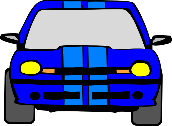 600x440 Race Car Clipart Blue