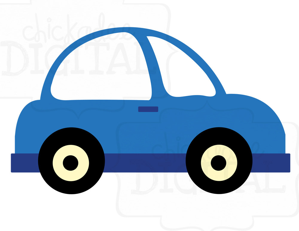 1000x773 Blue Car Clipart