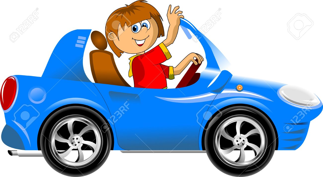 1300x716 Blue Car Clipart Animated