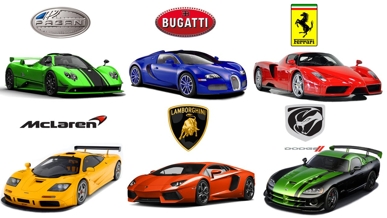 1280x720 Car Brands. RACING CARS. Animation for Kids
