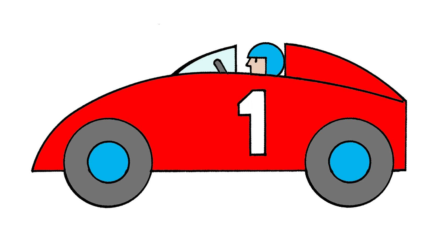 1660x868 Drawn race car animated