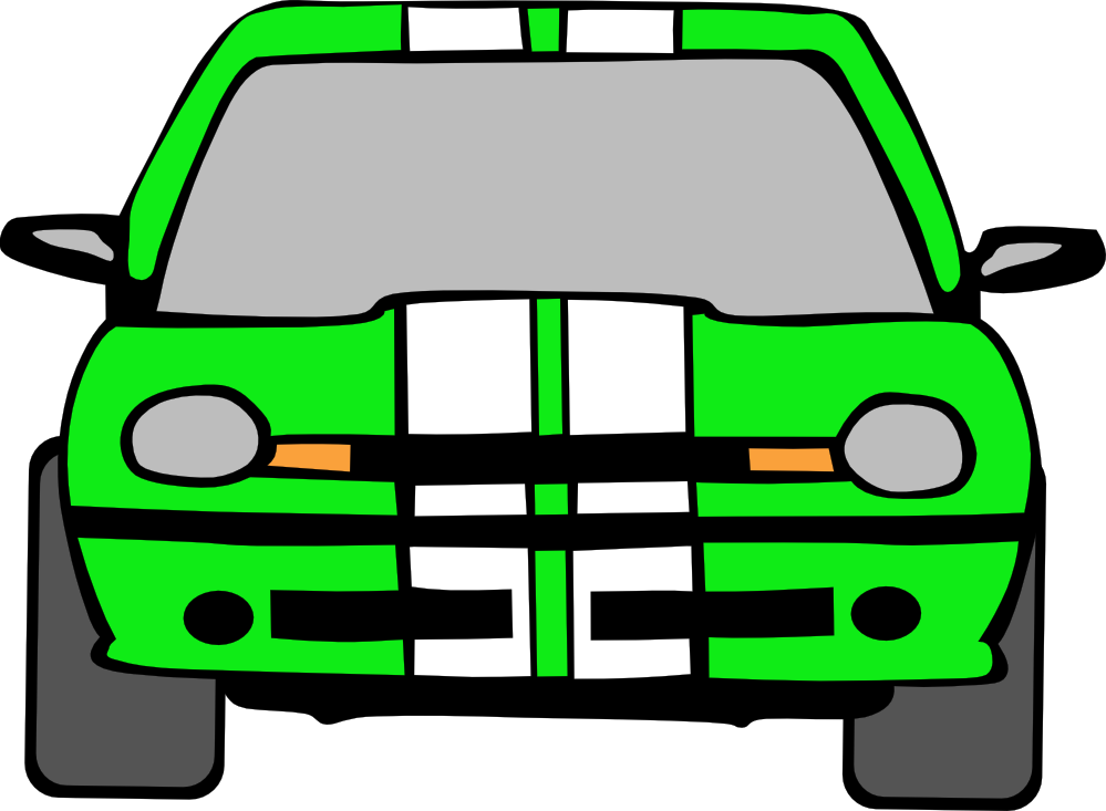 999x733 Race Car clipart green