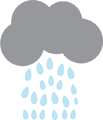 340x397 Rain Clipart Grey Cloud