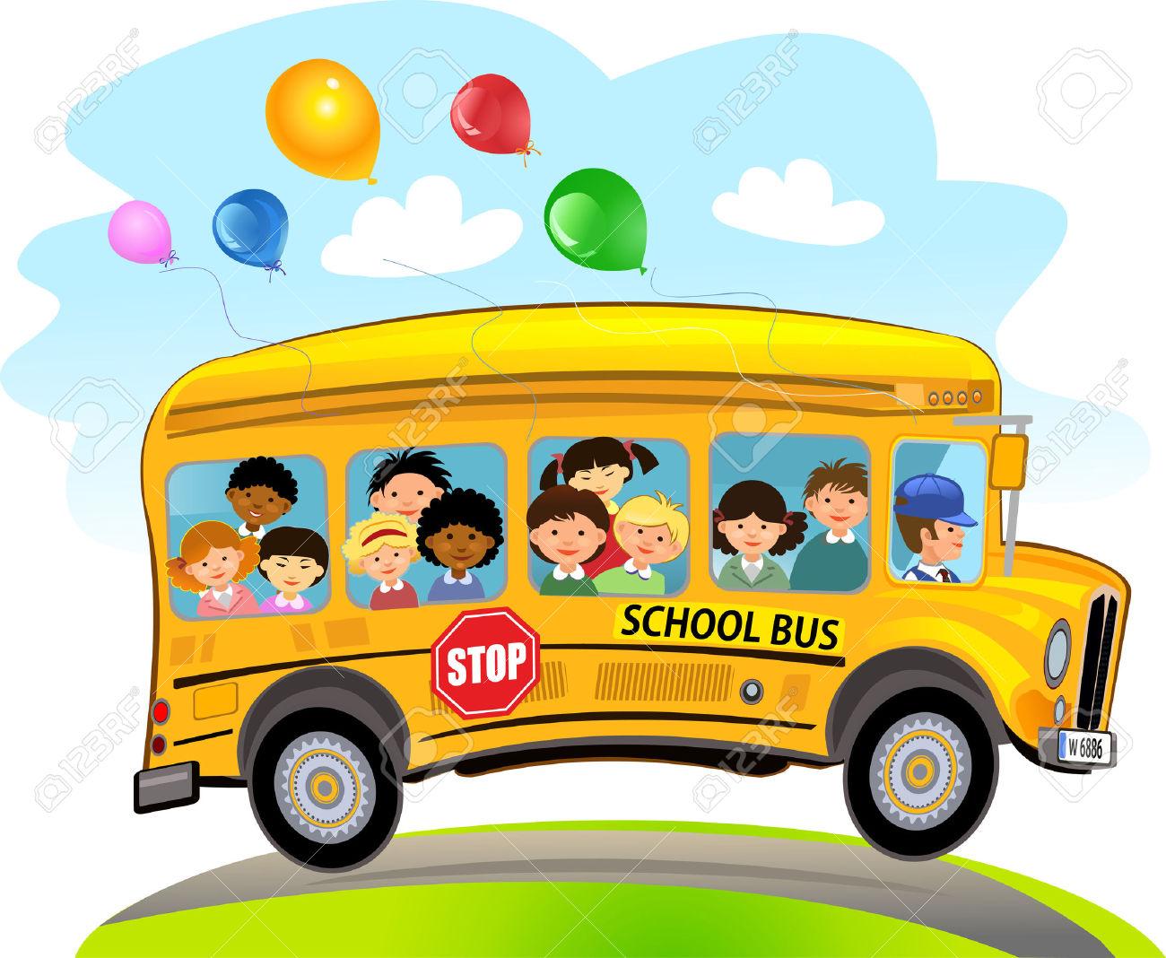School bus kid. Animated free download best