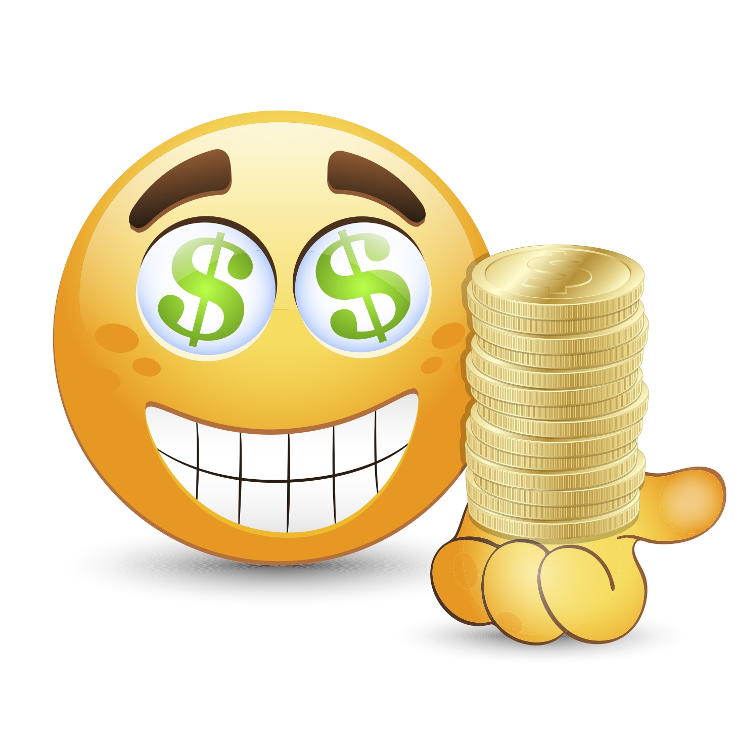 1458x1458 6 Amazing Dollar Smileys And Emoticons Smiley Symbol