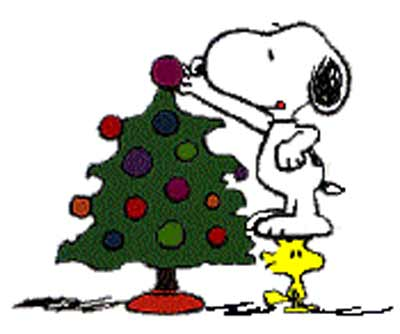 400x334 Snoopy Christmas Clip Art
