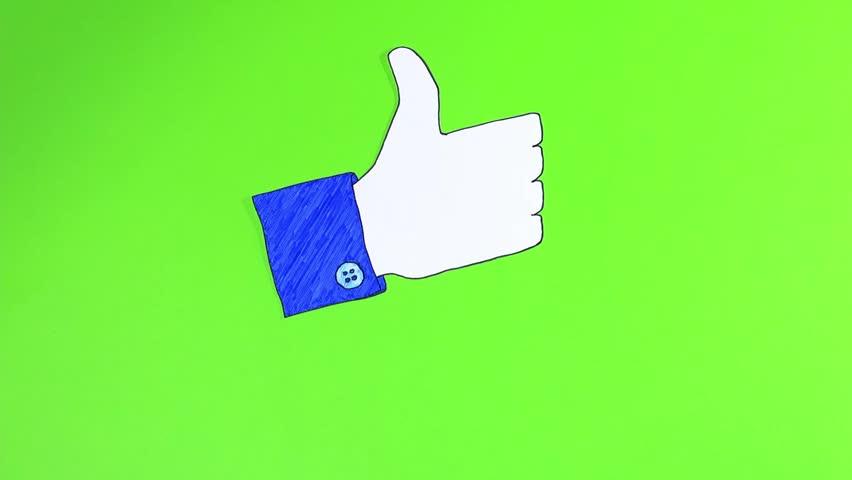 852x480 Two Custom Looping Animated Social Media Emoticons Illustrating