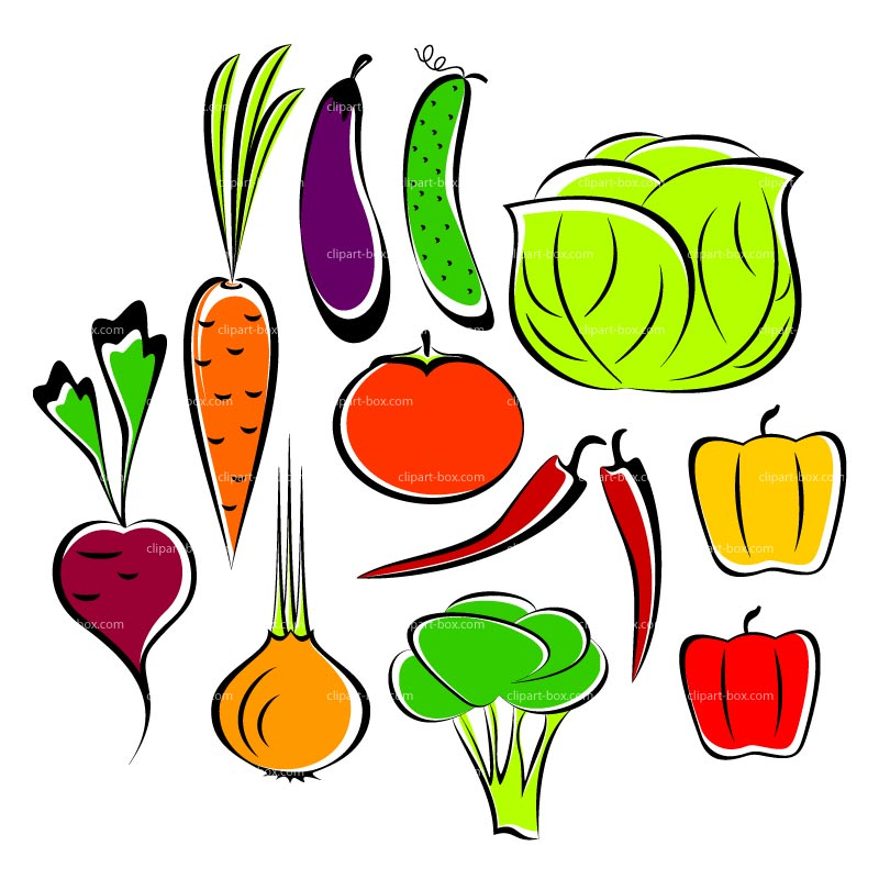 800x800 Clip Art Cartoon Vegetables Clipart