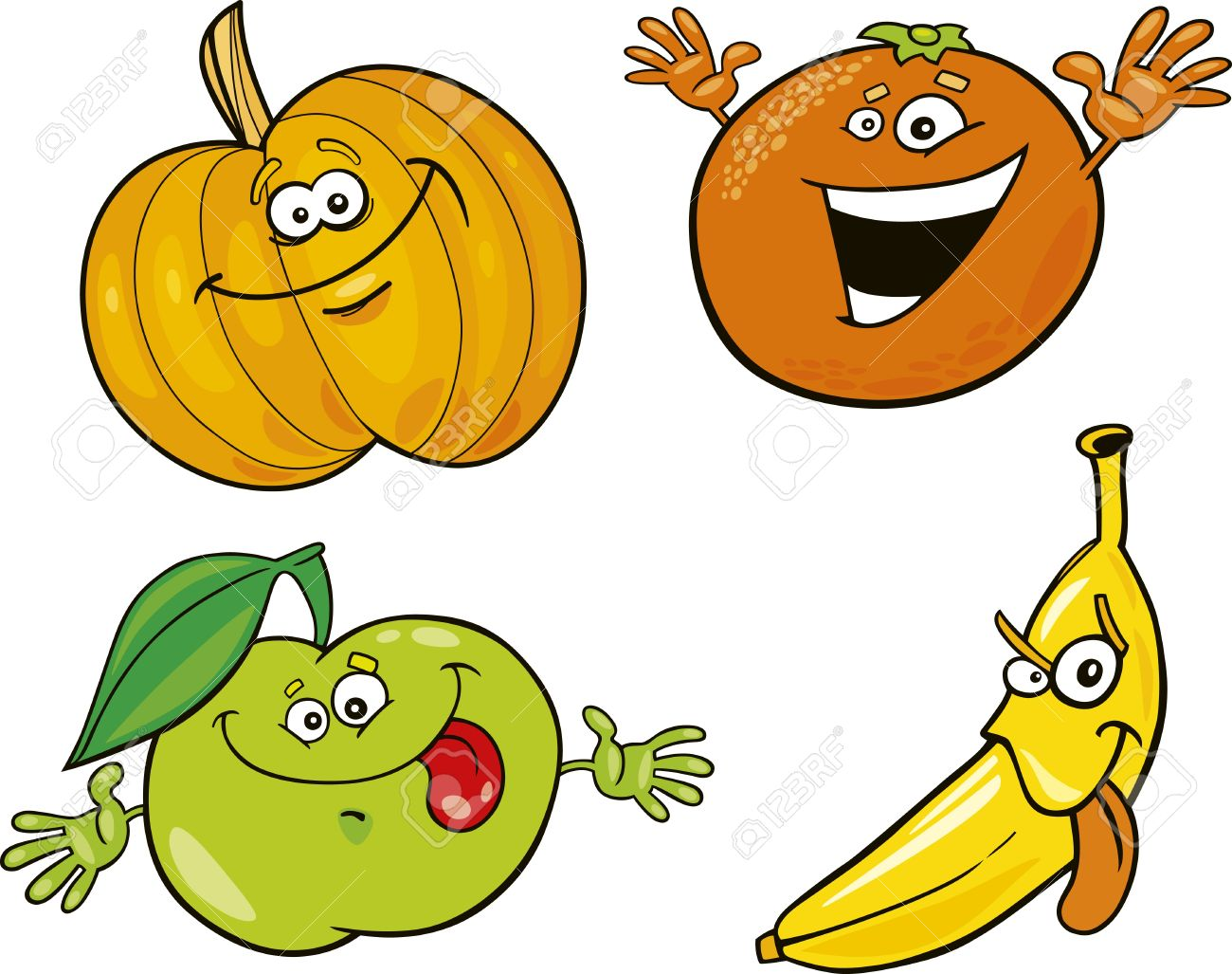 1300x1027 Fruits Amp Vegetables Clipart Cartoon