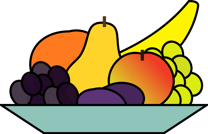 800x517 Fruits Amp Vegetables Clipart Plate Food