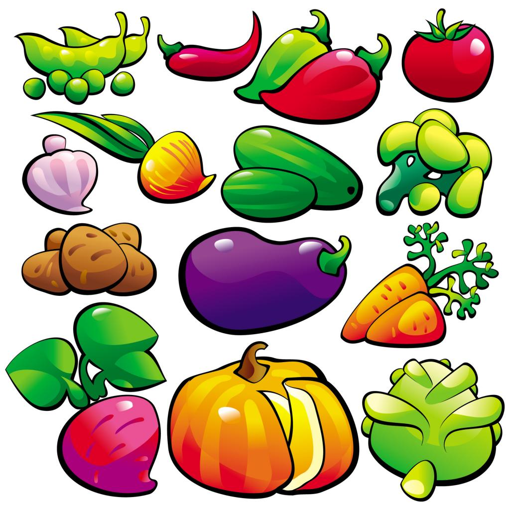 1024x1024 Vegetables Clipart