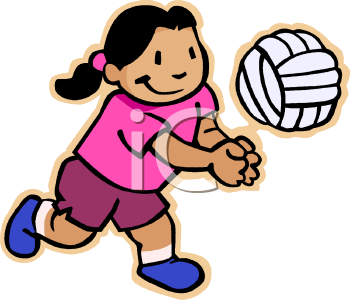 350x300 Animated clipart volleyball