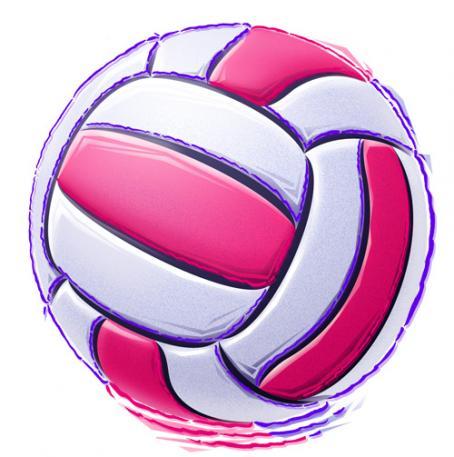 454x457 Pink Volleyball Clip Art Clipart Panda