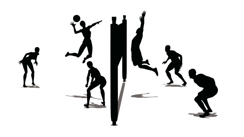 852x480 Volleyball Silhouette Stock Footage Video 344578 Shutterstock