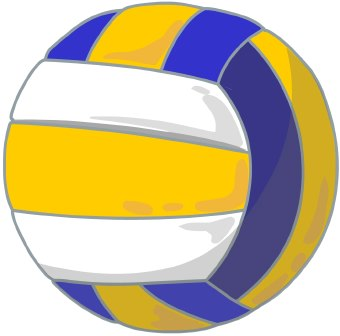 340x336 Volleyball clipart 1