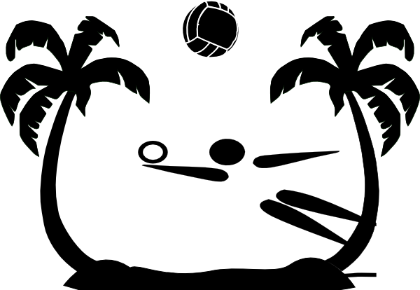 600x414 Red And Black Volleyball Clipart Collection