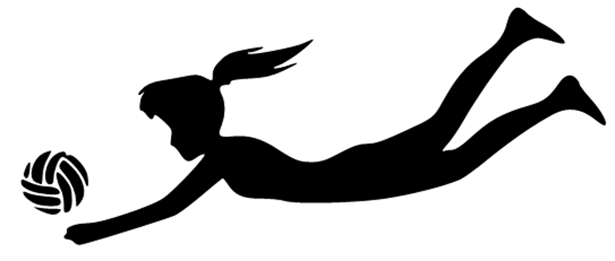 1200x510 Sport Girl Volleyball Player Silhouette Clipart