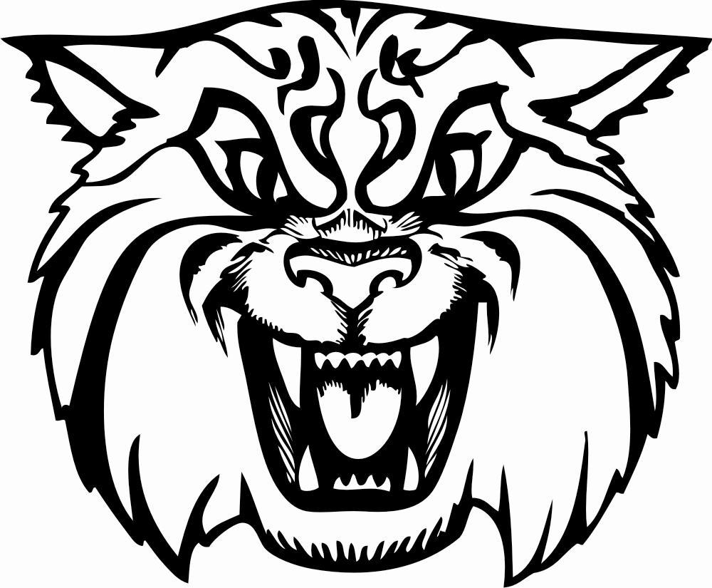 1000x825 Animated Wildcat Mascot Clipart