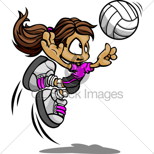 500x500 Animated Girl Volleyball Player My Site