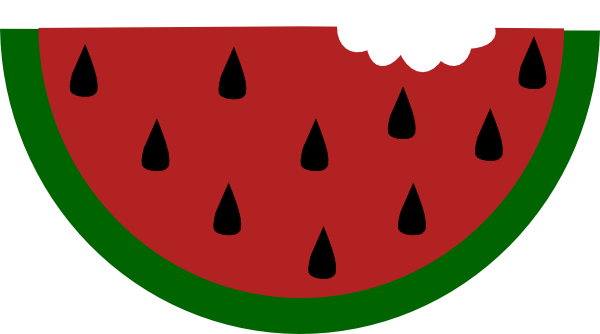 600x334 Free animated clipart of watermelon