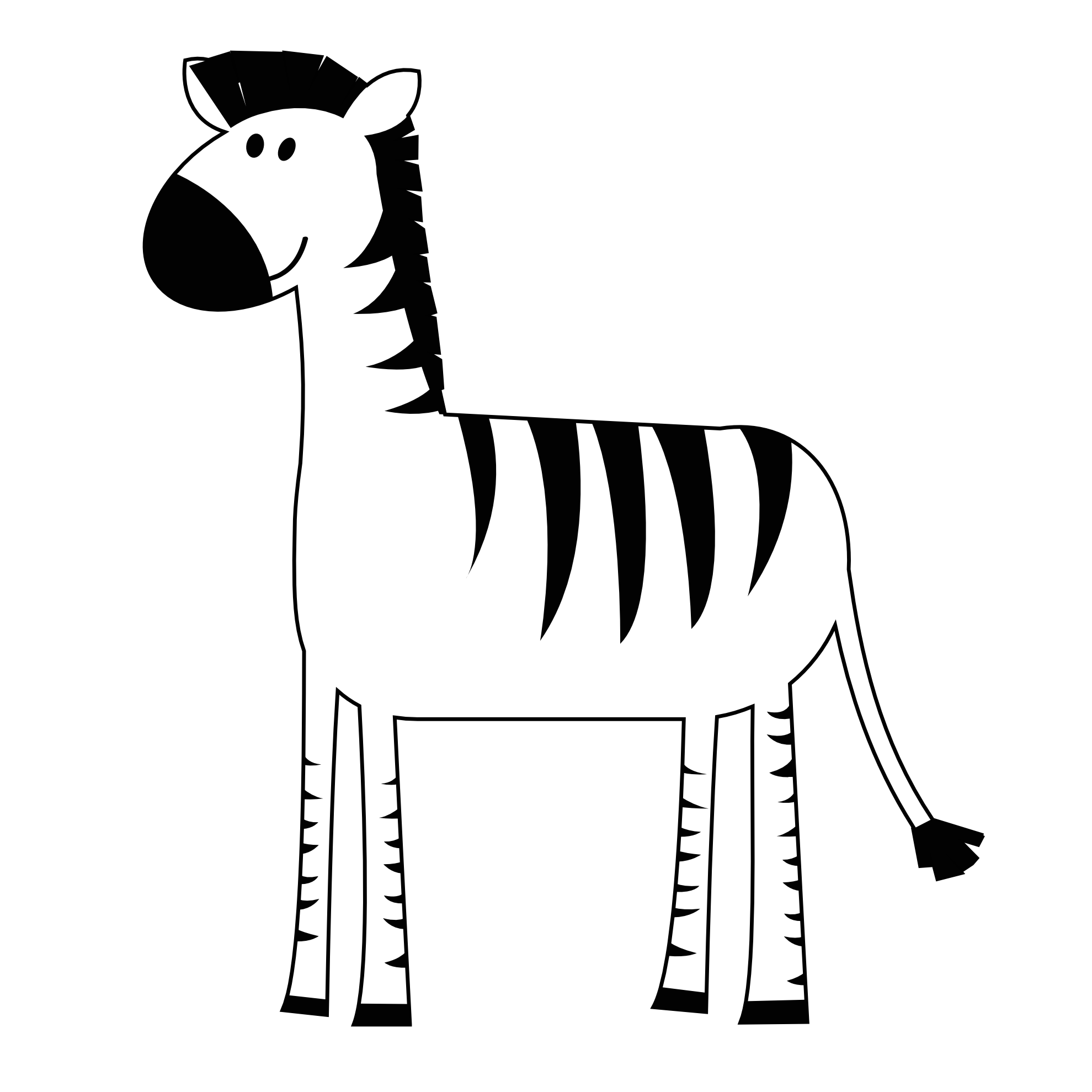 1979x1979 Cartoon Zebra Clip Art